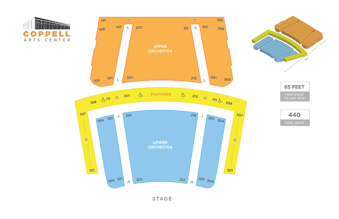 Coppell Arts Center Main Hall Seating Chart
