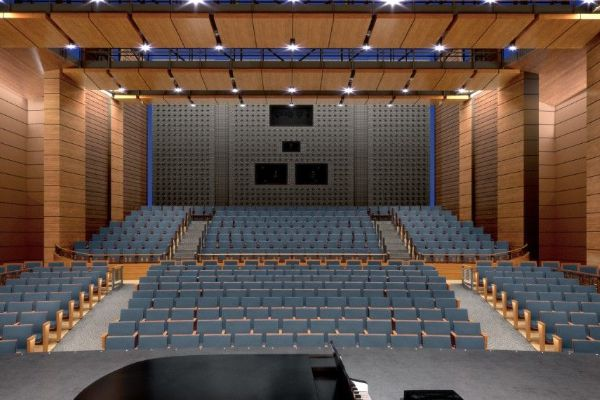 view from stage with empty seats