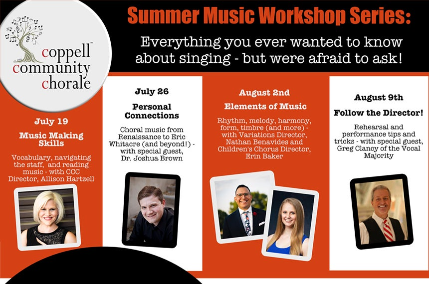More Info for The Coppell Community Chorale: Everything You Ever Wanted to Know About Singing - But Were Afraid to Ask