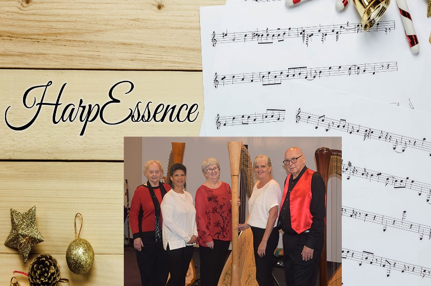 More Info for HarpEssence Holiday Concert Sponsored by the Cozby Library