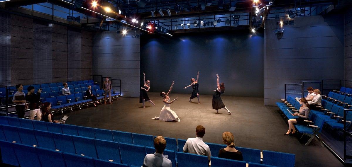 rendering of dancers dancing on Wheelice Wilson Jr, Theatre