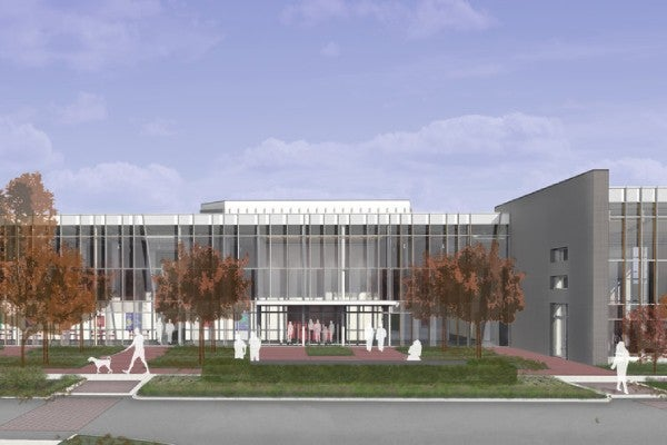 rendering of venue exterior